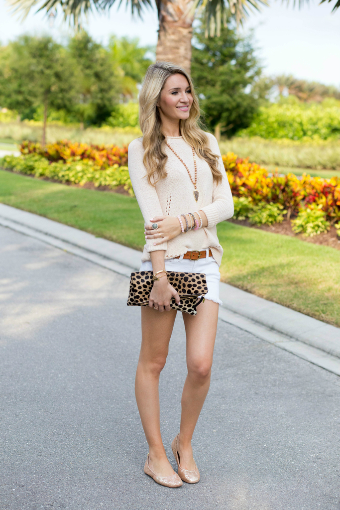 Spring Sweater Blush Outfit