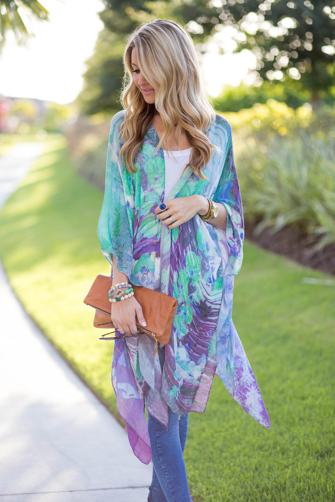 Other World Kimono Tory Burch Wedges Summer Style