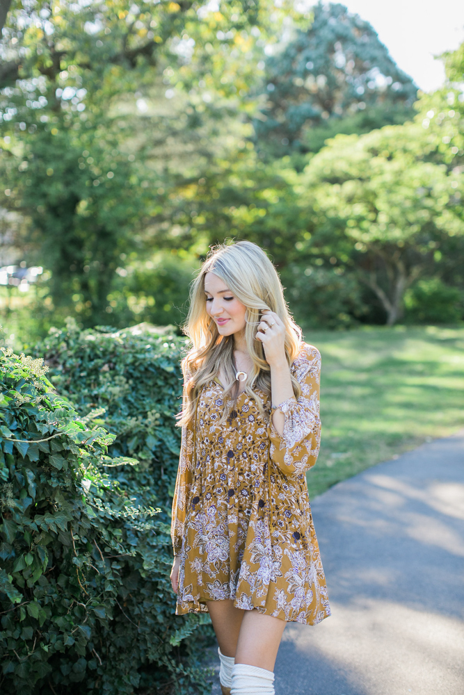 Free People Mustard Dress Bed Stu Boots