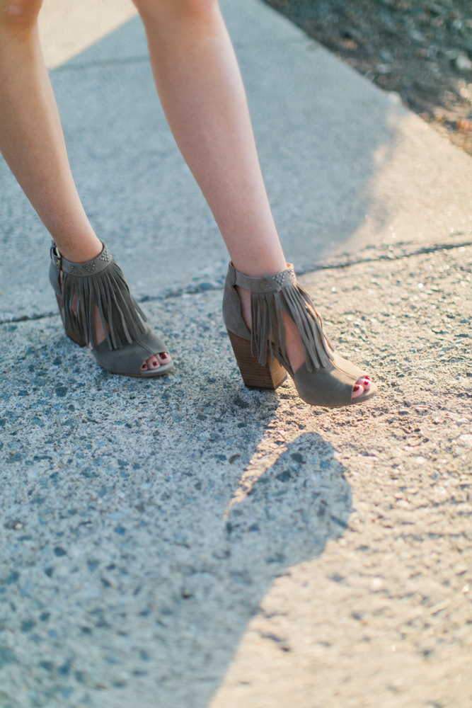 Lulus Fringe Booties Fall Layers