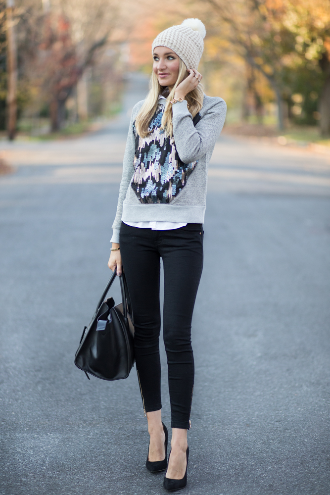 Sequin Winter Outfit