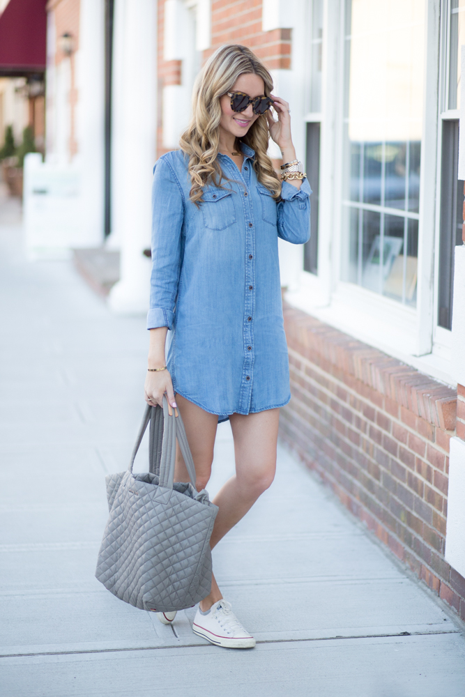 Chambray Dress Blonde Expeditions