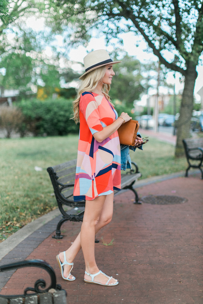 Pattern Shift Dress