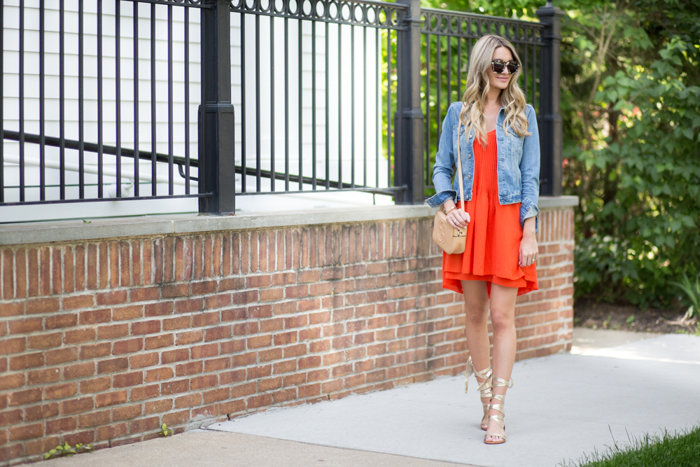 Jean Jacket Over Dress