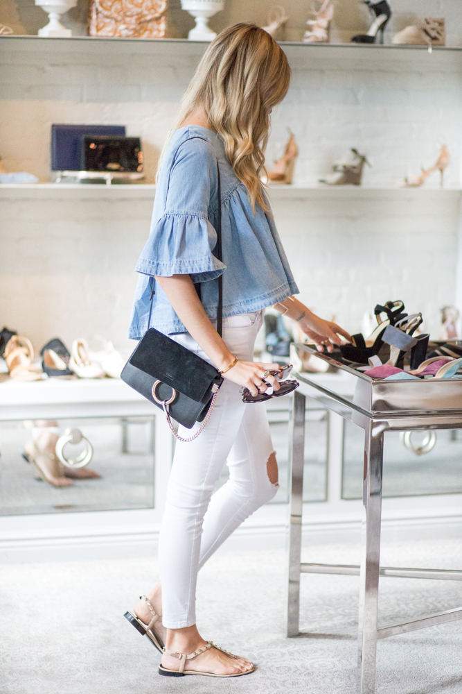 Chambray Top White Jeans
