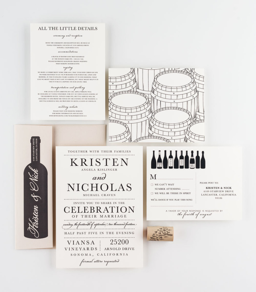 Vineyard Wedding Invite