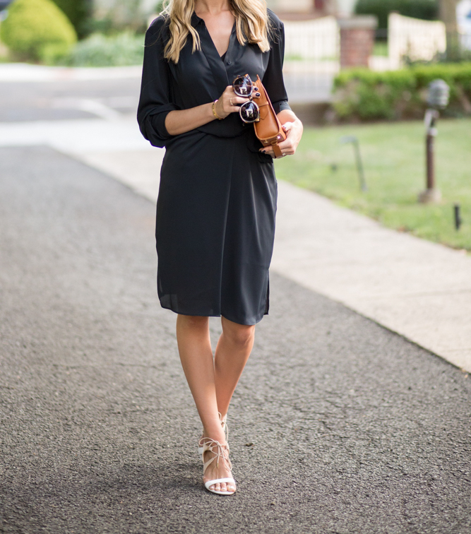 Autograph Collection Black Shirt Dress