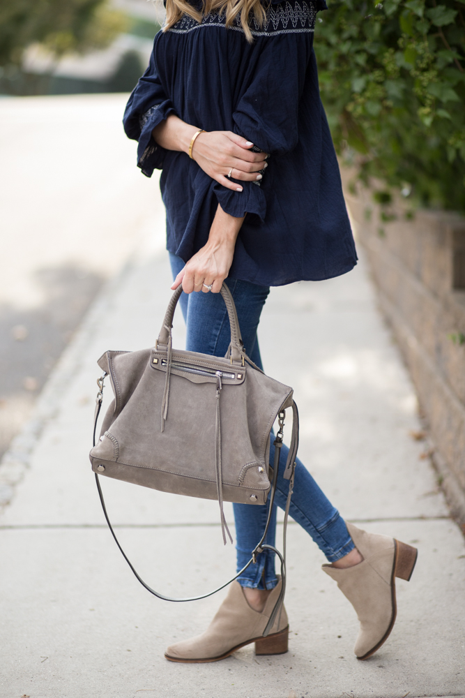 Rebecca Minkoff Regan Satchel Gray