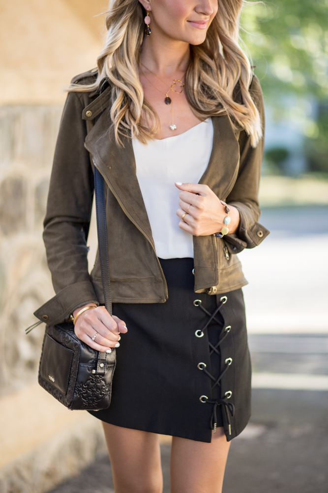 Black Skirt Lace Up