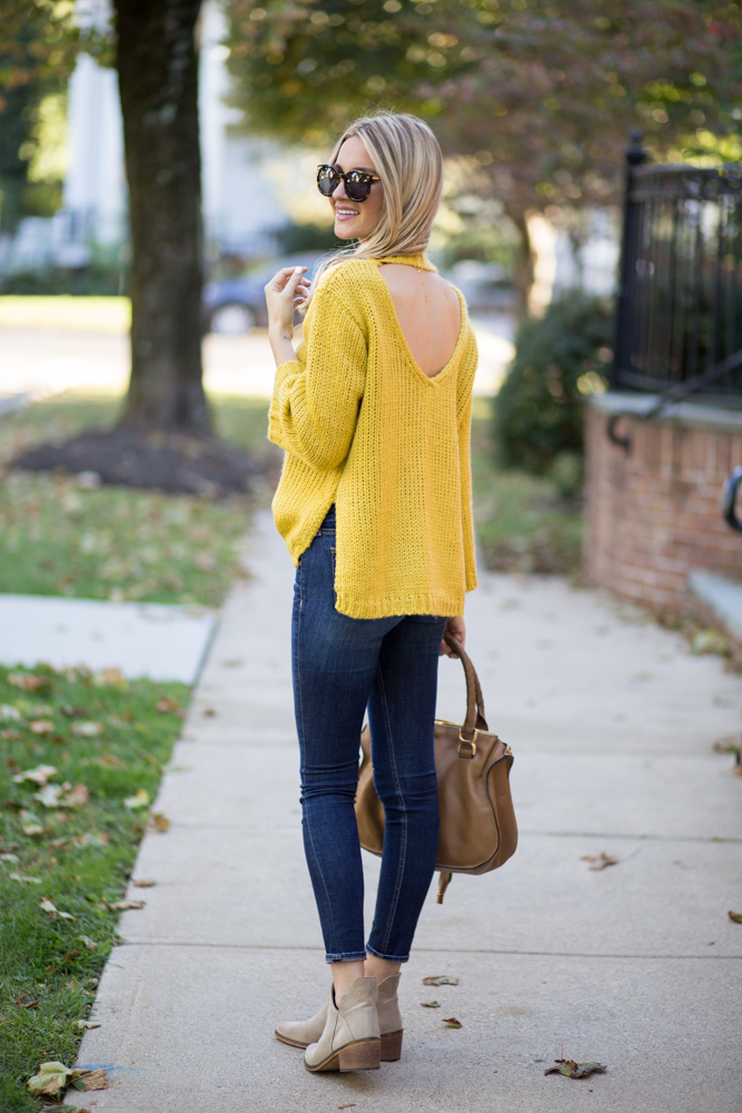 Chartreuse Fall Sweater