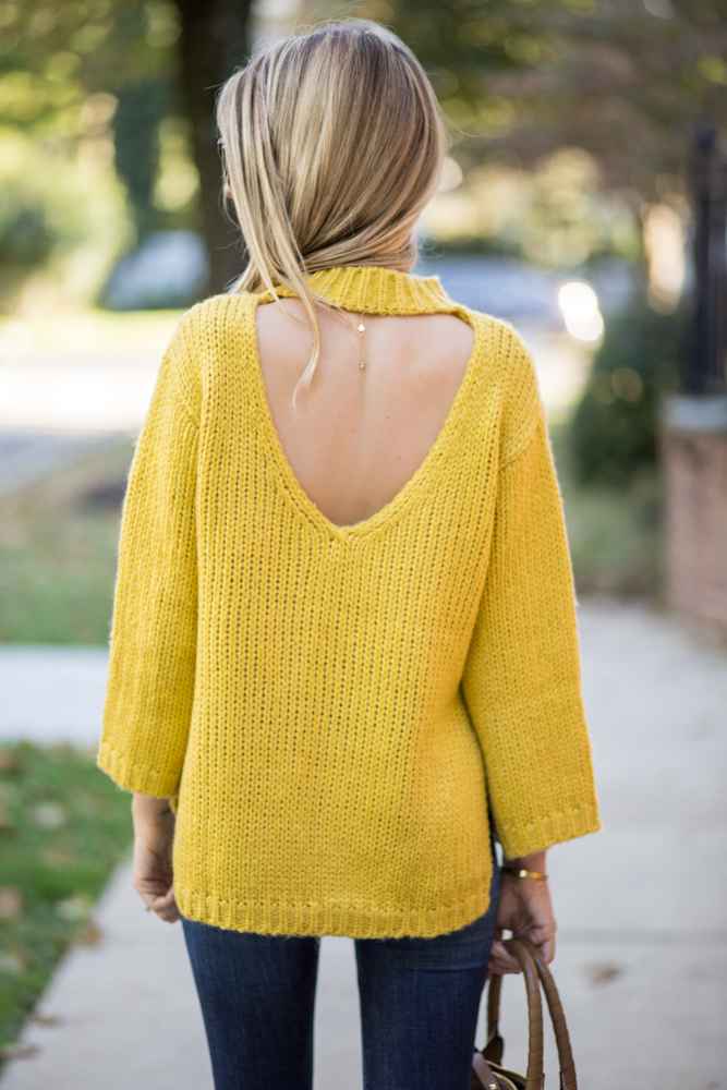 Cut Out Back Sweater