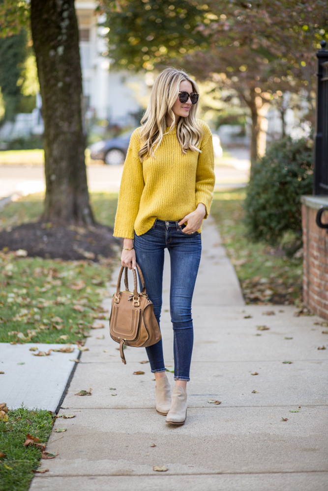 Yellow Fall Sweater