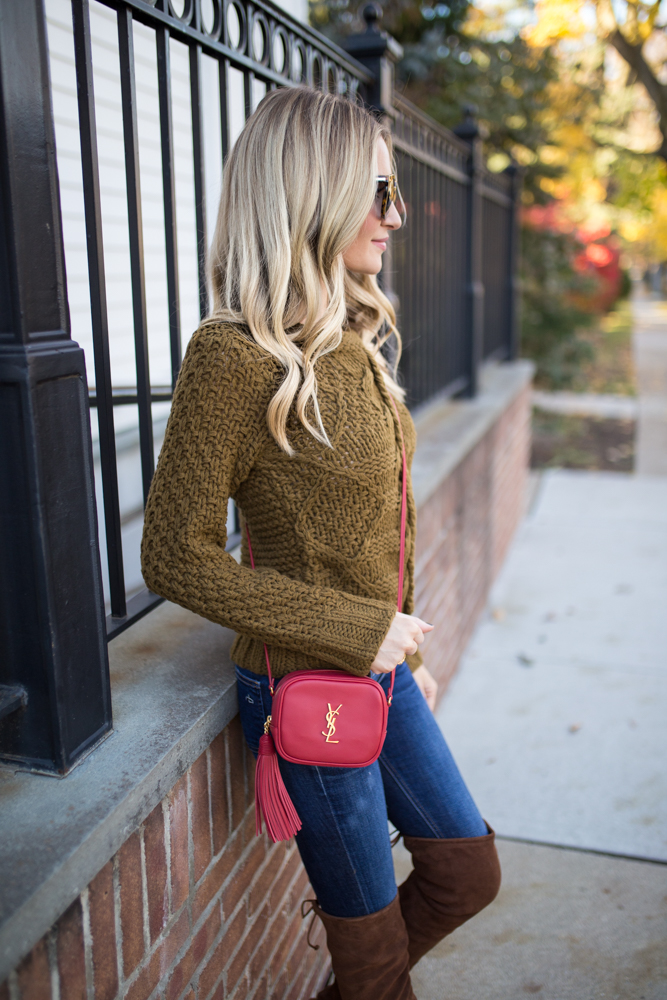 JOA Cable Knit Sweater