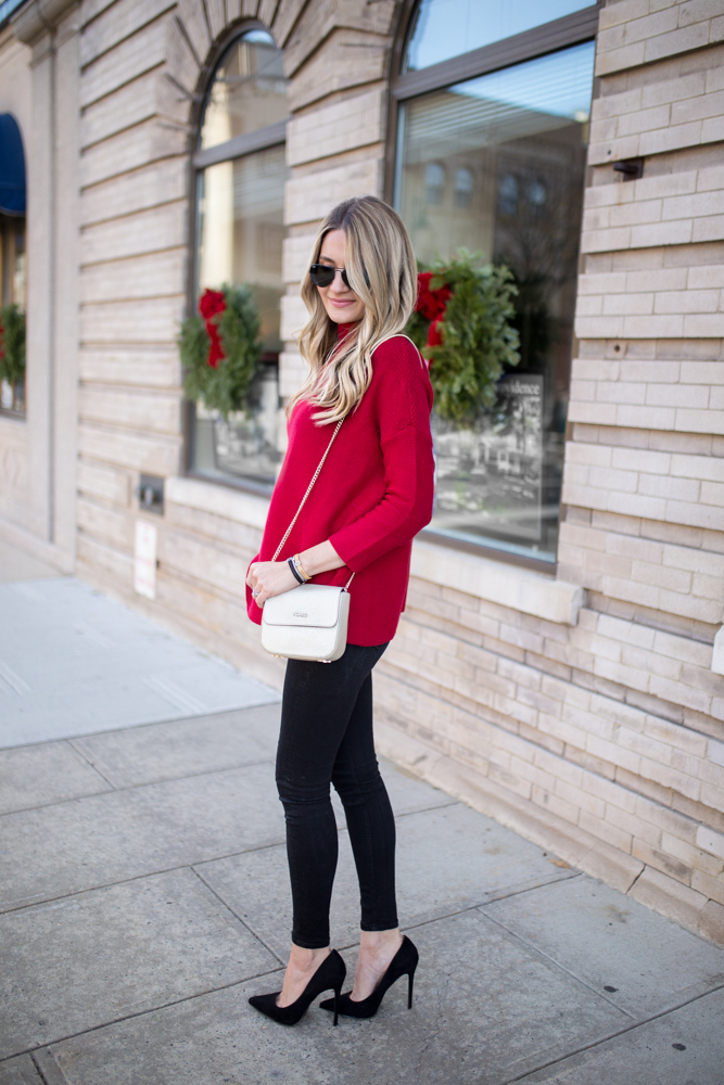 Black and red holiday outfit inspo