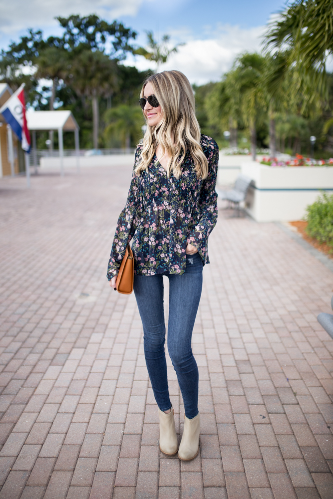 On The Road Floral Blouse