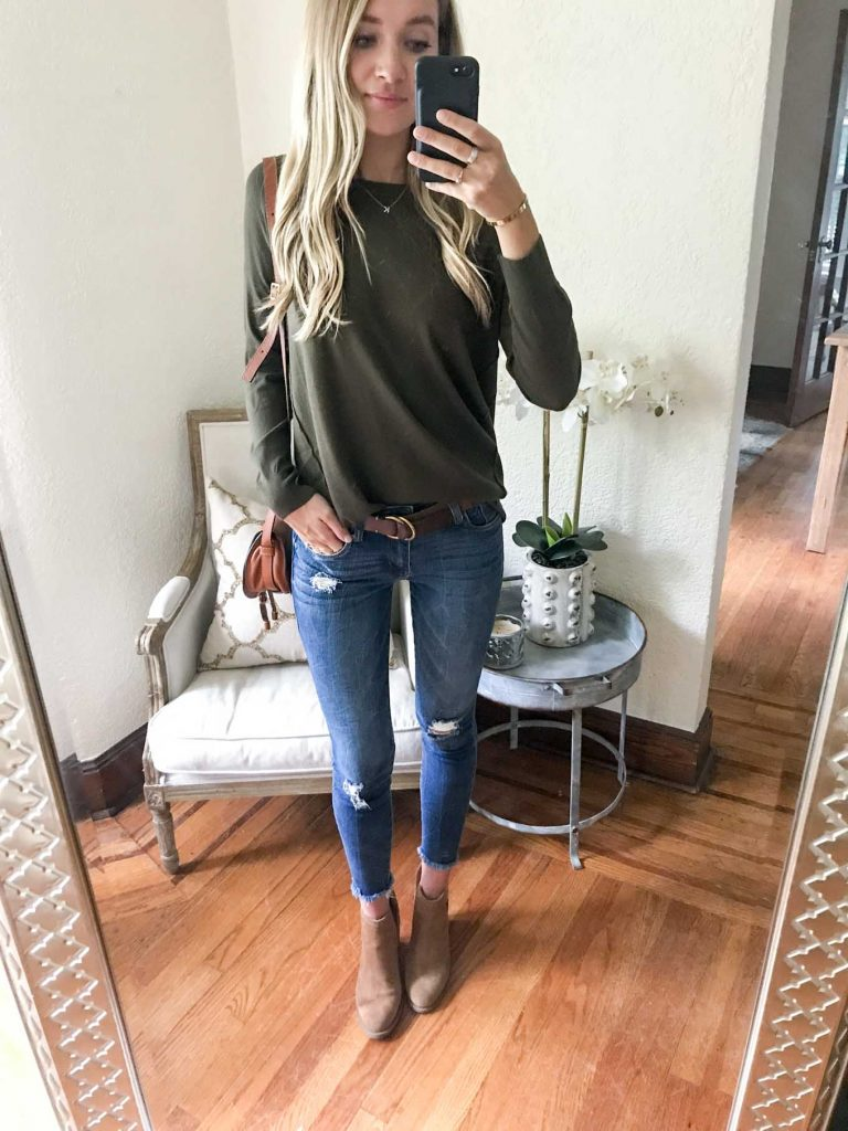 Dreamers Olive Sweater