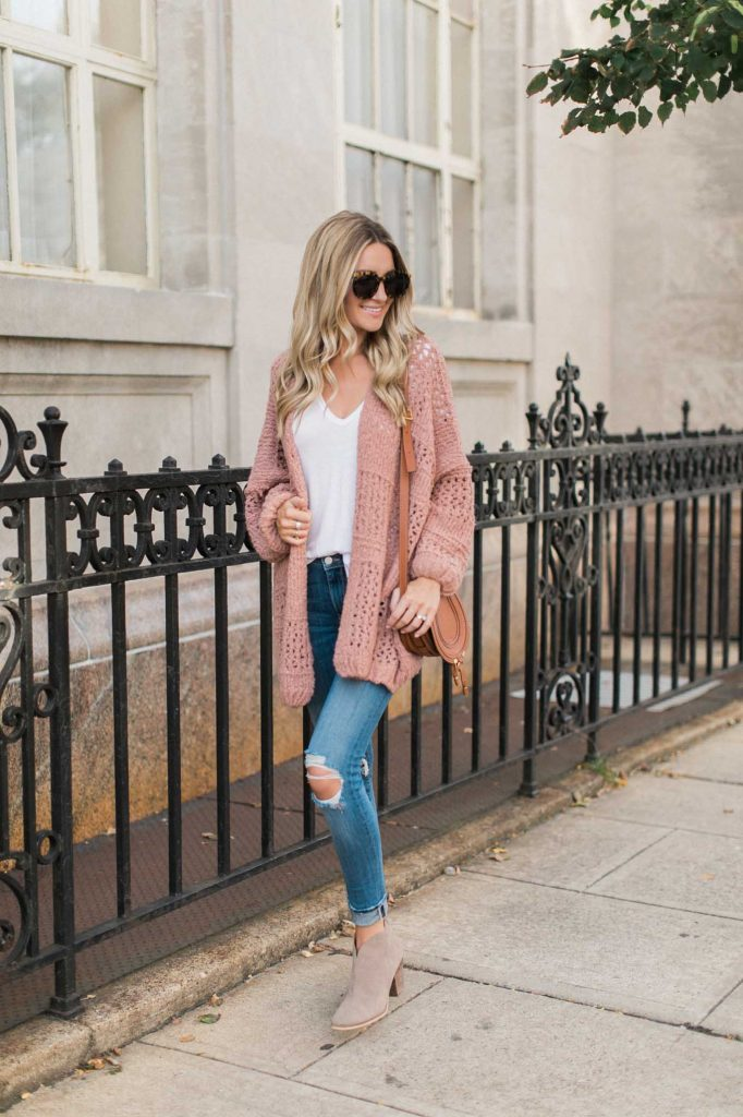 Blush Oversized Cardigan