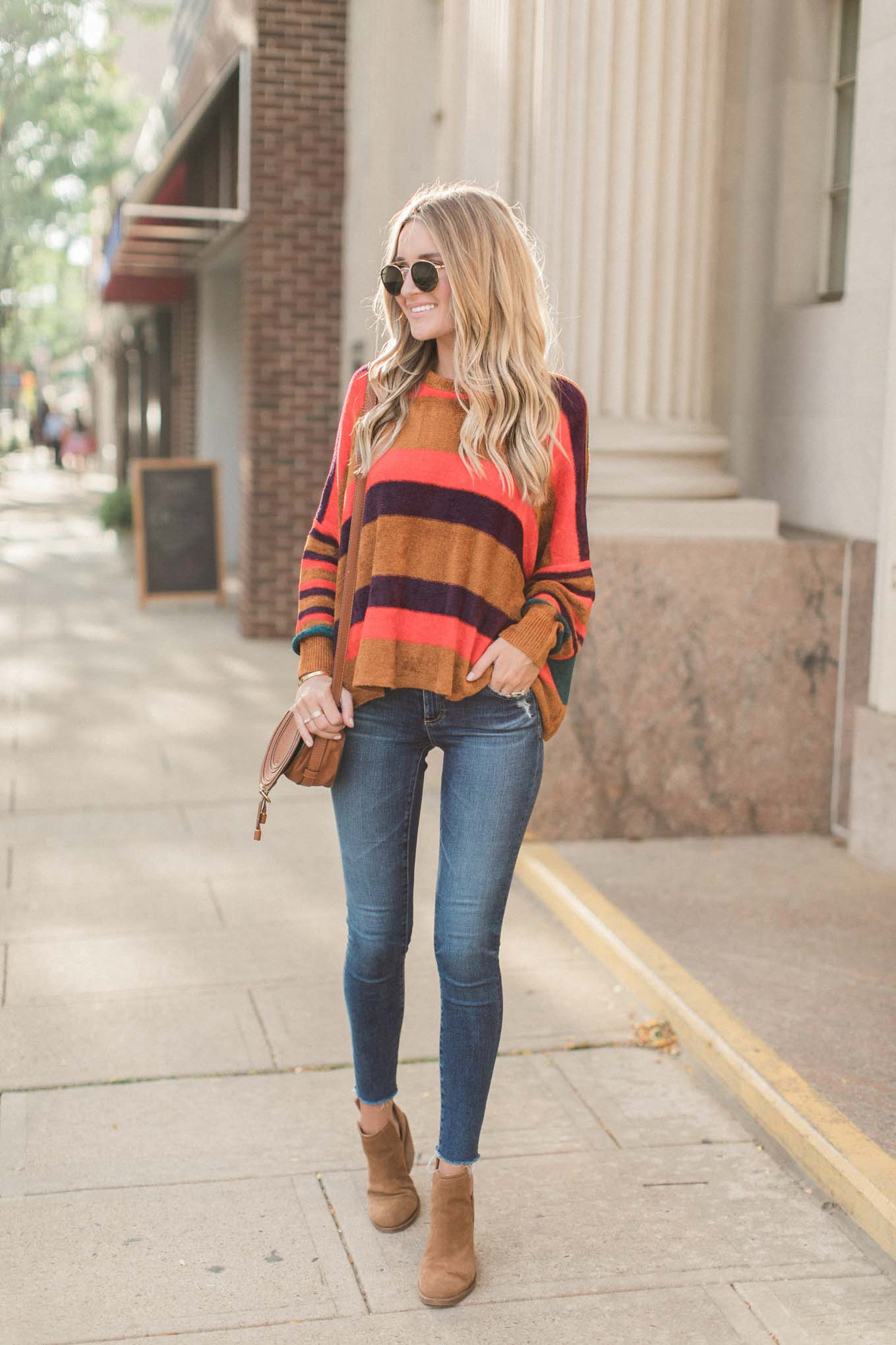 Striped Free People Pullover
