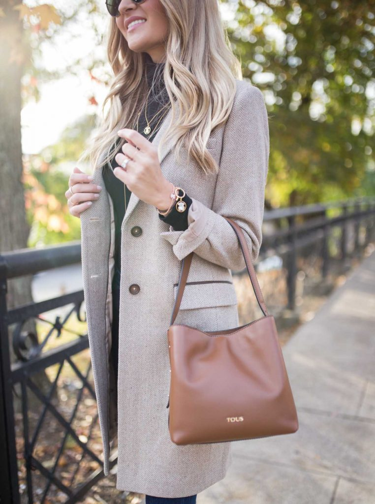 Joules Jacket and Brown Purse