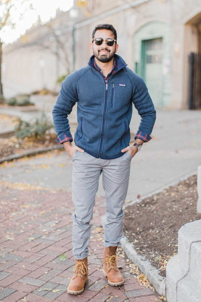Navy Mens Patagonia Zip Up
