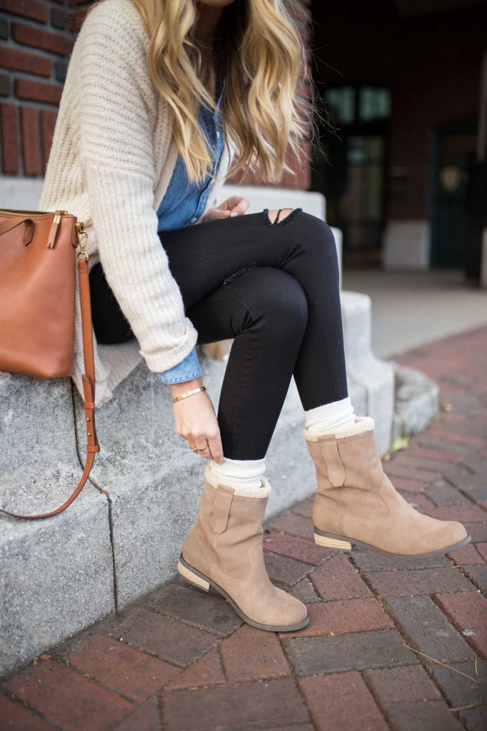 Faux Shearling Booties