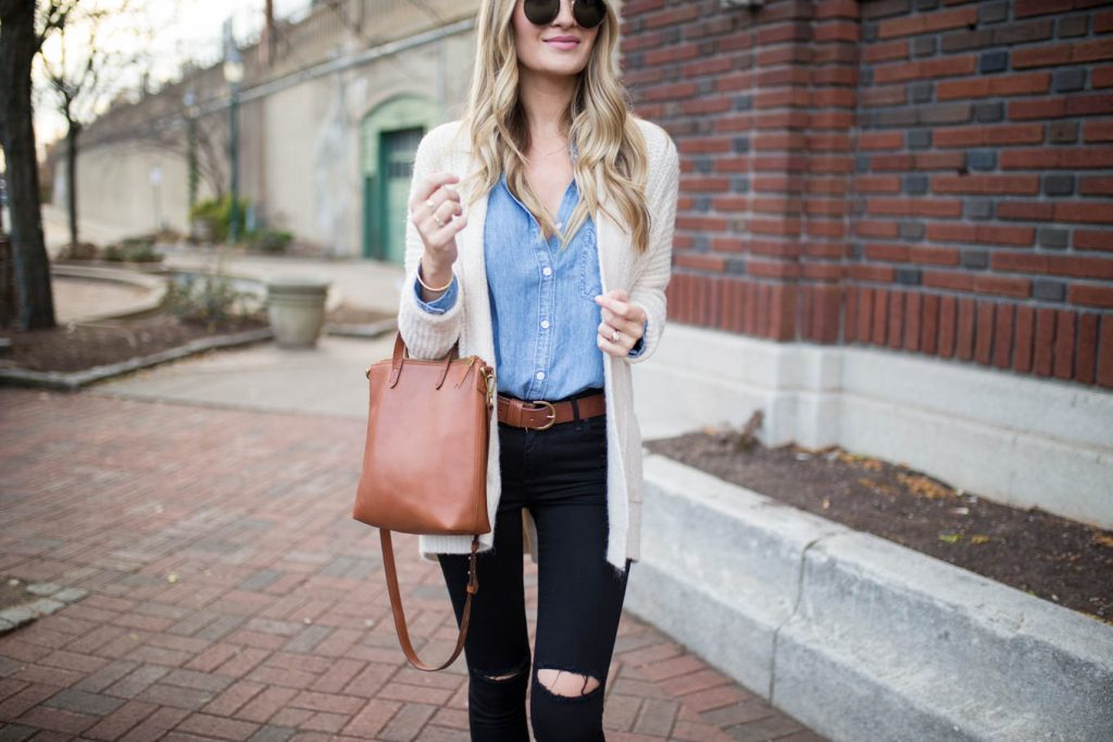 Chambray and Dark Denim