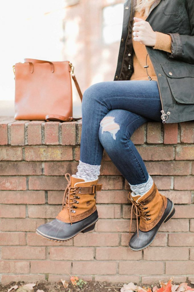 Winter Boots with Socks