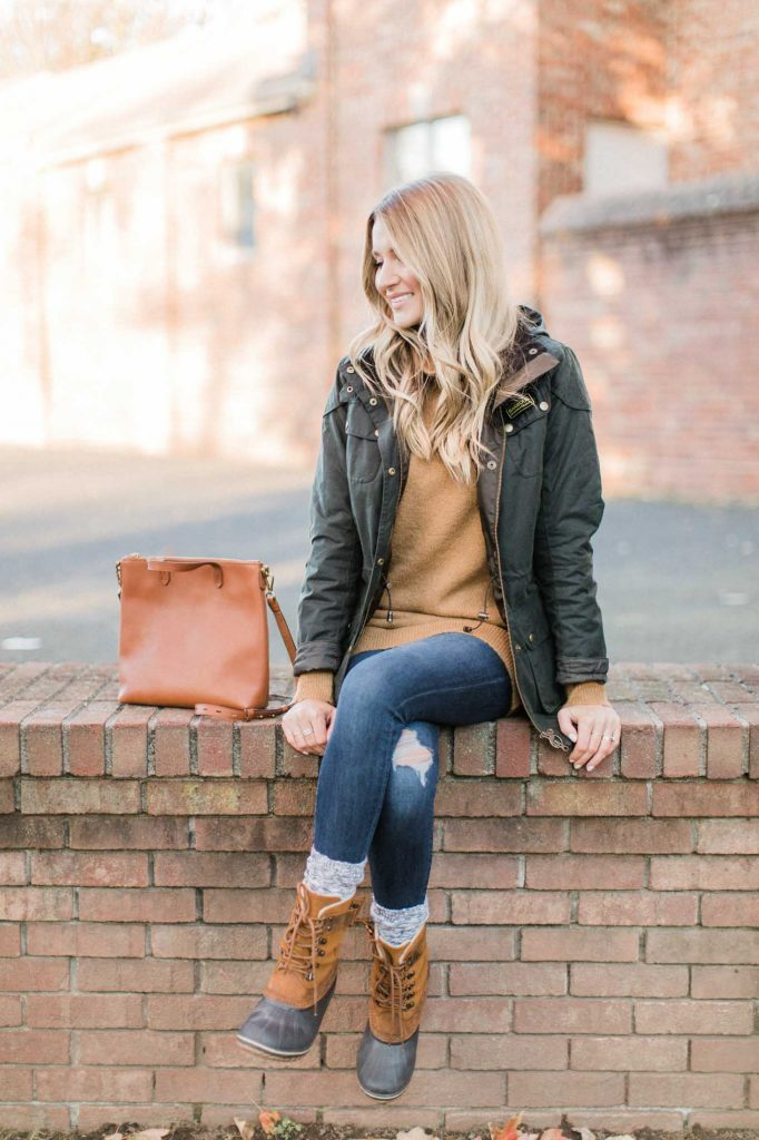 Madewell Tote Winter Look