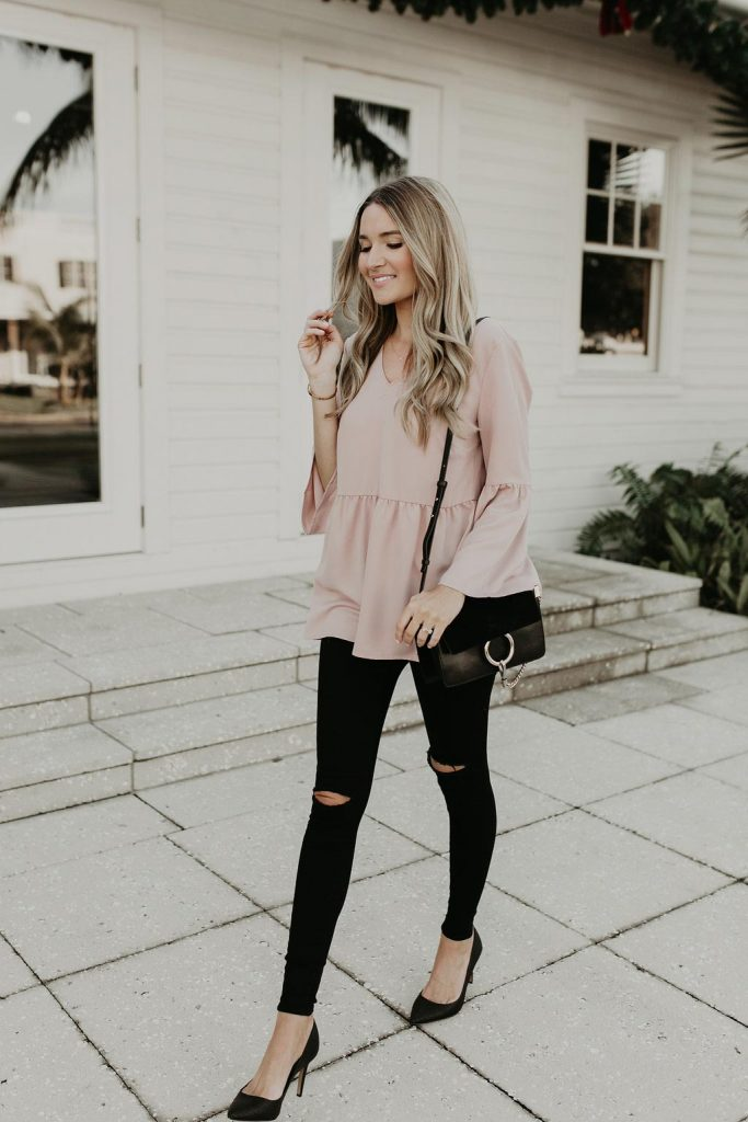 casual blush outfit