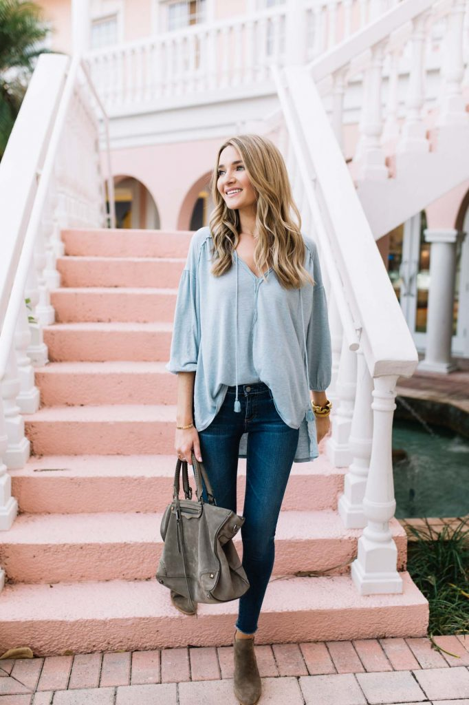 casual pastel top