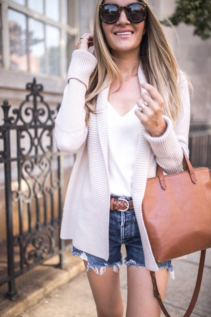 neutral summer cardigan