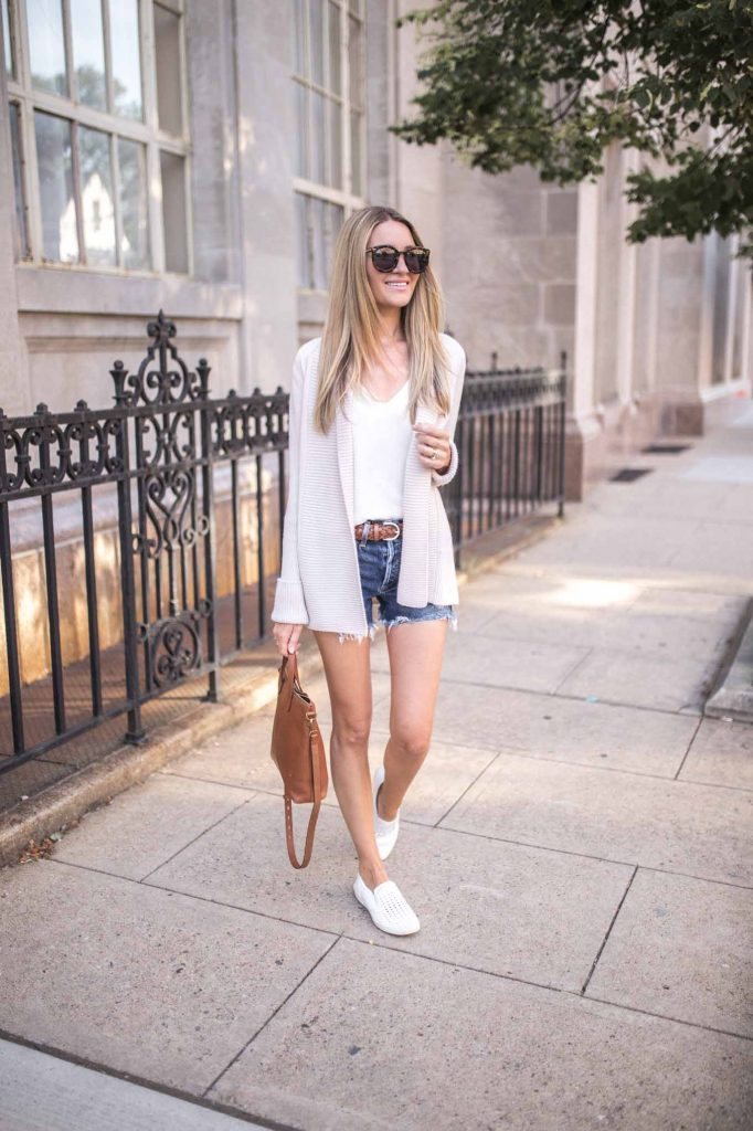 summer outfit with cardigan