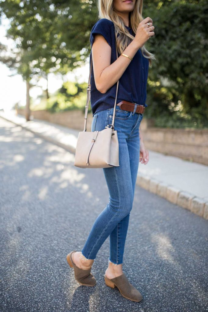 Neutral Crossbody tote