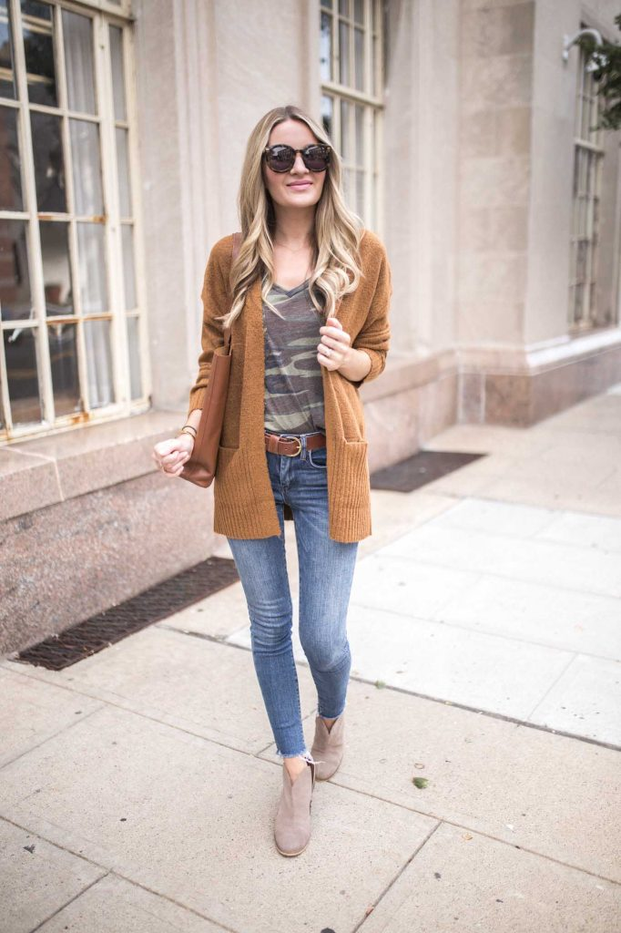 easy fall cardigan outfit