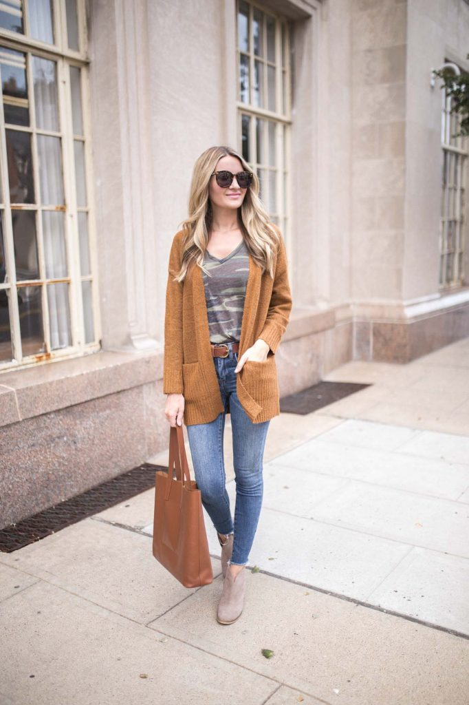 Long Cardigan with denim
