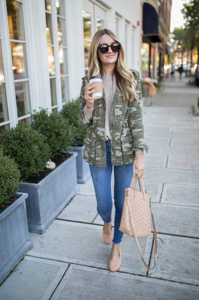 outfit for late fall camo jacket