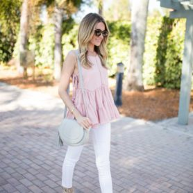 Blush Ruffled Peplum